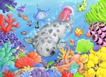 Picture of Baby Seal Under The Sea